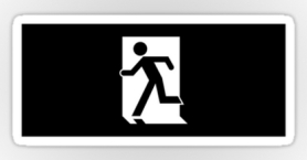 Running Man Exit Sign Sticker Decals 64