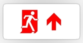 Running Man Exit Sign Sticker Decals 65