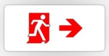Running Man Exit Sign Sticker Decals 66