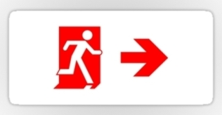 Running Man Exit Sign Sticker Decals 66