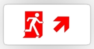 Running Man Exit Sign Sticker Decals 67