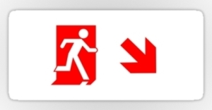 Running Man Exit Sign Sticker Decals 68