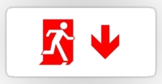 Running Man Exit Sign Sticker Decals 69