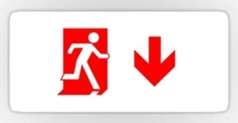 Running Man Exit Sign Sticker Decals 69