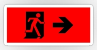 Running Man Exit Sign Sticker Decals 7