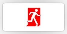 Running Man Exit Sign Sticker Decals 70