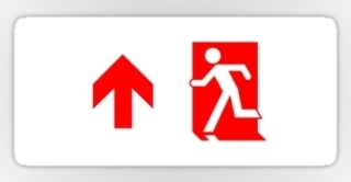 Running Man Exit Sign Sticker Decals 71