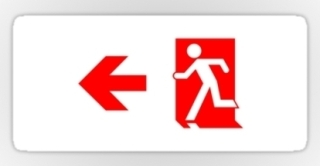Running Man Exit Sign Sticker Decals 73