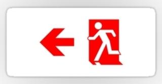 Running Man Exit Sign Sticker Decals 73