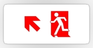 Running Man Exit Sign Sticker Decals 74