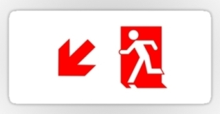 Running Man Exit Sign Sticker Decals 75