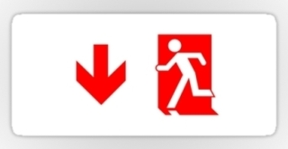 Running Man Exit Sign Sticker Decals 76