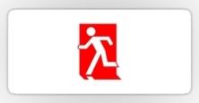 Running Man Exit Sign Sticker Decals 77