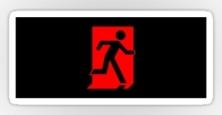 Running Man Exit Sign Sticker Decals 78