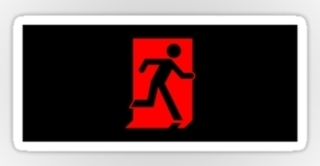 Running Man Exit Sign Sticker Decals 78