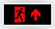 Running Man Exit Sign Sticker Decals 79