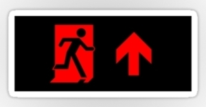 Running Man Exit Sign Sticker Decals 79