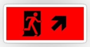 Running Man Exit Sign Sticker Decals 8