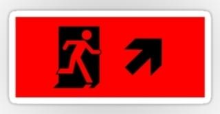 Running Man Exit Sign Sticker Decals 8