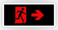 Running Man Exit Sign Sticker Decals 80