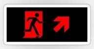 Running Man Exit Sign Sticker Decals 81