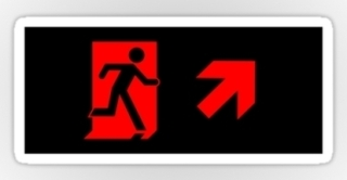 Running Man Exit Sign Sticker Decals 81