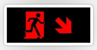 Running Man Exit Sign Sticker Decals 82
