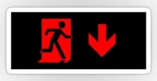 Running Man Exit Sign Sticker Decals 84