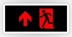 Running Man Exit Sign Sticker Decals 85