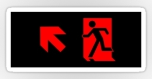 Running Man Exit Sign Sticker Decals 87