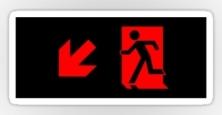 Running Man Exit Sign Sticker Decals 88