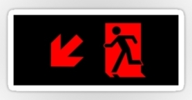 Running Man Exit Sign Sticker Decals 88
