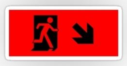 Running Man Exit Sign Sticker Decals 9