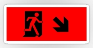 Running Man Exit Sign Sticker Decals 9