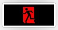 Running Man Exit Sign Sticker Decals 90