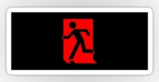 Running Man Exit Sign Sticker Decals 90