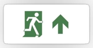 Running Man Exit Sign Sticker Decals 91