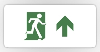 Running Man Exit Sign Sticker Decals 91