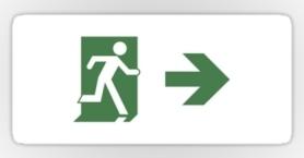 Running Man Exit Sign Sticker Decals 92