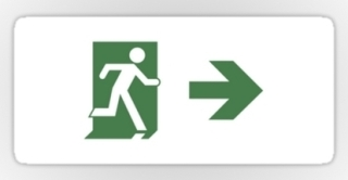 Running Man Exit Sign Sticker Decals 92