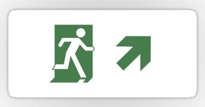 Running Man Exit Sign Sticker Decals 93