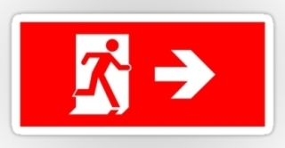 Running Man Exit Sign Sticker Decals 94