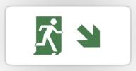 Running Man Exit Sign Sticker Decals 95