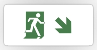 Running Man Exit Sign Sticker Decals 95