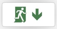 Running Man Exit Sign Sticker Decals 96