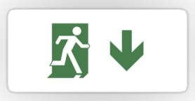Running Man Exit Sign Sticker Decals 96