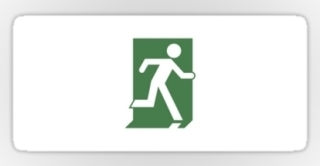 Running Man Exit Sign Sticker Decals 97