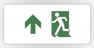 Running Man Exit Sign Sticker Decals 98