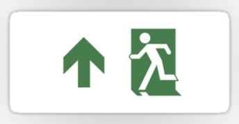 Running Man Exit Sign Sticker Decals 98
