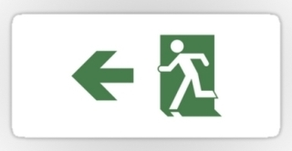 Running Man Exit Sign Sticker Decals 99